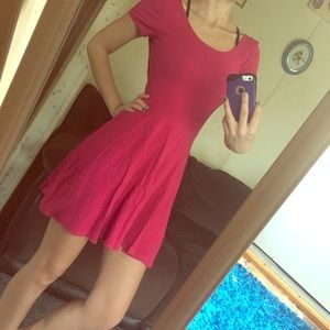 Pink Dress with Blue Bow